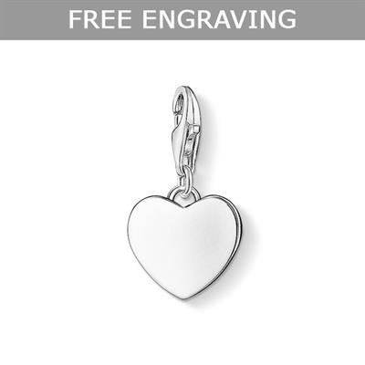 Buy Thomas Sabo Silver Engravable Heart Charm