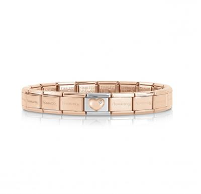 Buy Nomination Rose Gold Heart Bracelet