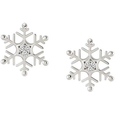 Buy Nomination Silver CZ Snowflake Studs