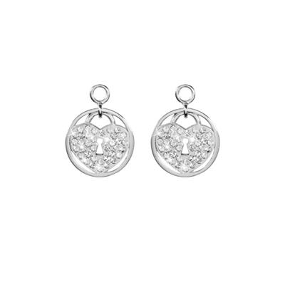 Buy Nikki Lissoni Sparkling Lock Silver Coin Drops