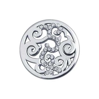 Buy Nikki Lissoni Silver Baroque Coin 23mm