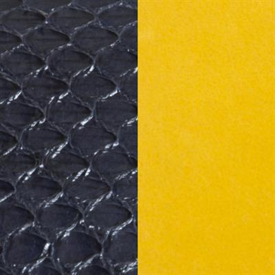 Buy Les Georgettes Black Snake / Yellow Medium Leather