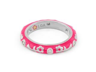 Buy Lauren G Adams Desire Ring in Hot Pink and Silver Size 7