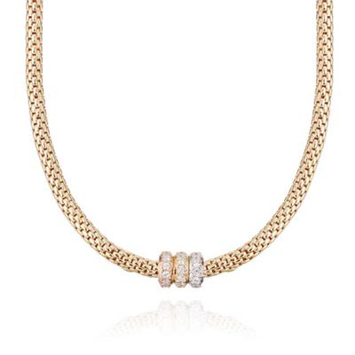 Buy Pure Attraction Gold Popcorn Necklace CZ Clasp