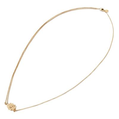 Buy Alex and Ani Lotus Peace Petals Pull Chain Necklace in Gold