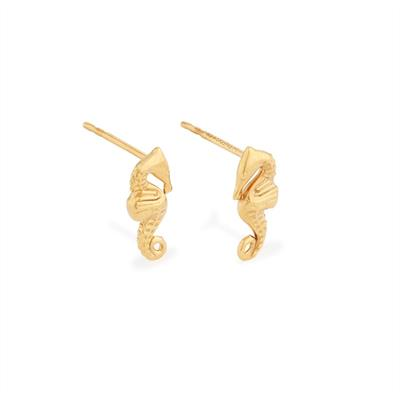 Buy Alex and Ani Seahorse Precious Studs in Gold