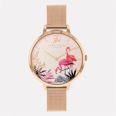 Buy Sara Miller Flamingos Watch, Rose Gold