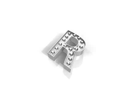 Buy Key Moments Silver Crystal Letter R