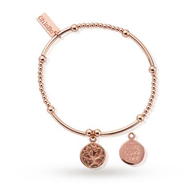 Buy ChloBo Cute Mini Live Love Life Rose Gold Bracelet
