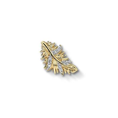 Buy Dower and Hall Gold Diamond Pave Feather Treasure