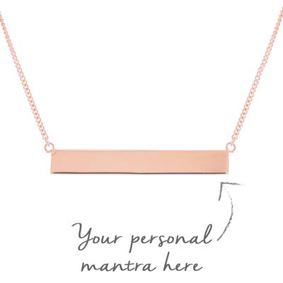 Buy MyMantra Bar myMantra Necklace in Rose Gold