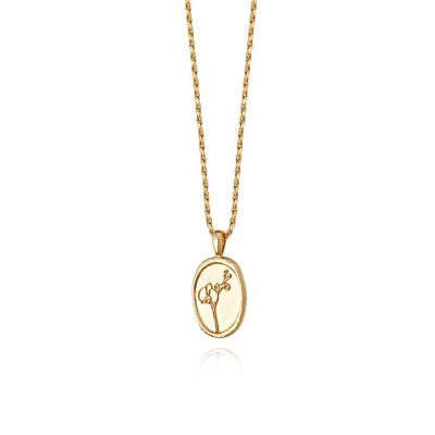 Buy Daisy 18ct Gold-Plated Orchid Necklace
