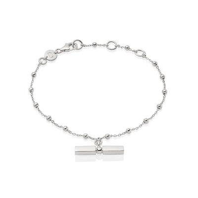 Buy Daisy Silver T Bar Beaded Bracelet