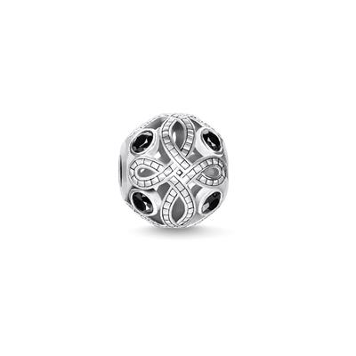 Buy Thomas Sabo Black Love Knot Bead