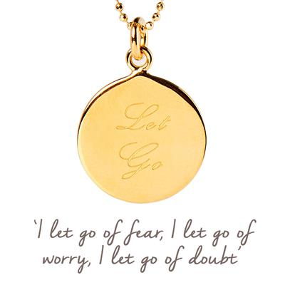 Buy Let Go Mantra Necklace in Gold