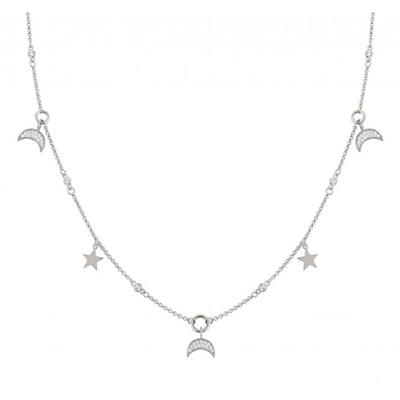 Buy Nomination Silver Multi Moon and Star Necklace AW19