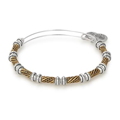 Buy Alex and Ani Quill Beaded Bangle in Rafaelian Gold and Silver Finish