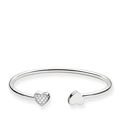 Buy Thomas Sabo Double Heart Silver Medium Bangle