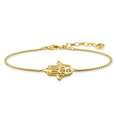 Buy Thomas Sabo Diamond Hand of Fatima Bracelet Gold-Plated