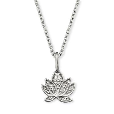 Buy Engelsrufer Silver CZ Lotus Necklace