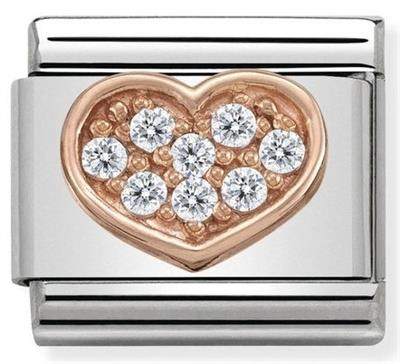 Buy Nomination Rose Gold CZ Heart