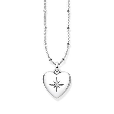 Buy Thomas Sabo Silver Heart Diamond Star Locket