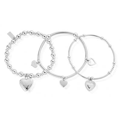 Buy ChloBo Set of 3 Love Bracelets