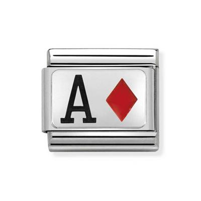 Buy Nomination Silver and Enamel Ace of Diamonds