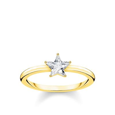 Buy Thomas Sabo Gold Star Ring 54