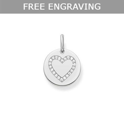 Buy Thomas Sabo CZ Heart Coin Pendant