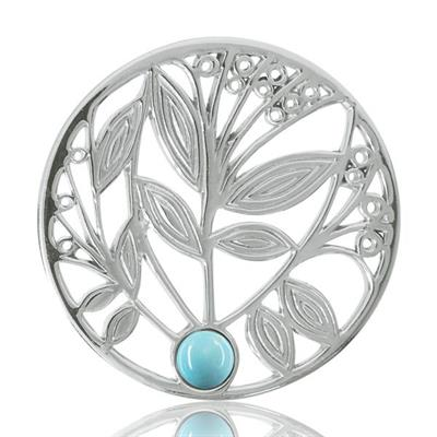 Buy Nikki Lissoni Silver Tree with Turquoise Coin