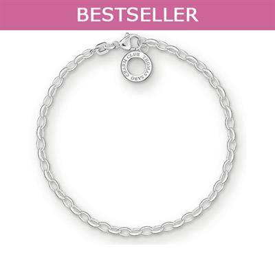 Buy Thomas Sabo Silver Thin Belcher Charm Bracelet, Medium