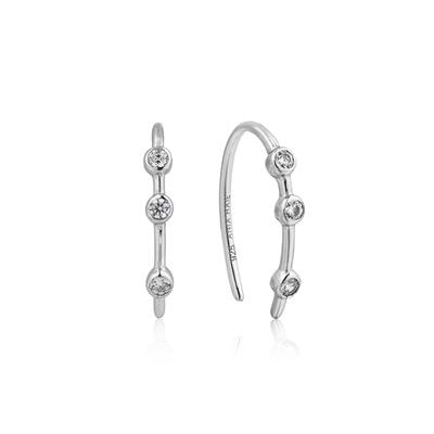 Buy Ania Haie Touch of Sparkle Silver Hoop Earrings