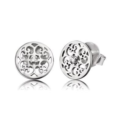 Buy Engelsrufer Filigree Stud CZ Earrings in Silver