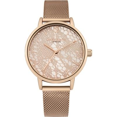 Buy Daisy Dixon Rose Gold Darcy Mesh Strap Watch