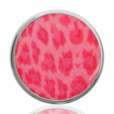 Buy Nikki Lissoni Pink Leopard Silver Coin 33mm