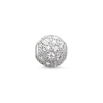 Buy Thomas Sabo Crushed Silver Pave Karma Bead