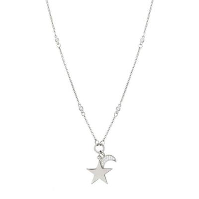 Buy Nomination Silver Big Star CZ Moon Necklace AW19