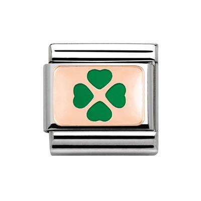 Buy Nomination Rose Gold & Green Clover