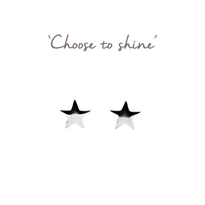 Buy Mantra Star Studs in Silver