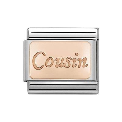 Buy Nomination Rose Gold Cousin Plate Charm