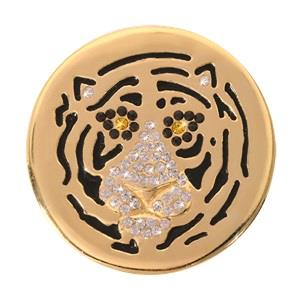 Buy Nikki Lissoni Gold Sparkling Tiger Medium Coin 33mm