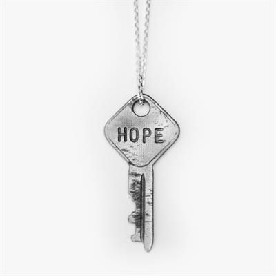 "Buy Giving Keys HOPE Dainty Silver 18"" Key Necklace"