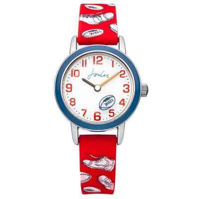 Buy Joules Red Rugby Print Kids Watch
