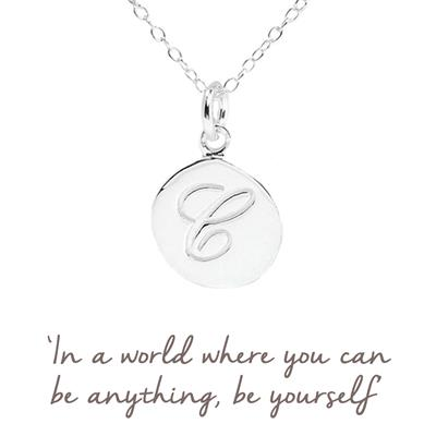 Buy C Mantra Initial Necklace