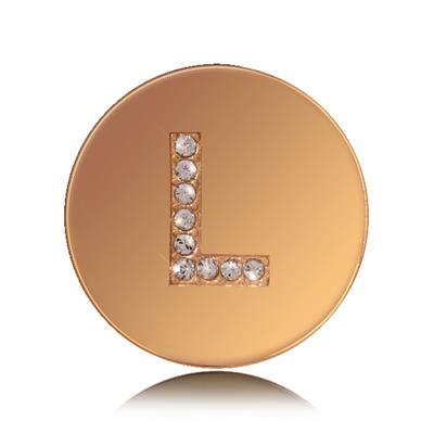 Buy Nikki Lissoni Letter L Small Gold Coin