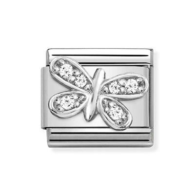 Buy Nomination Silver & CZ Butterfly Charm