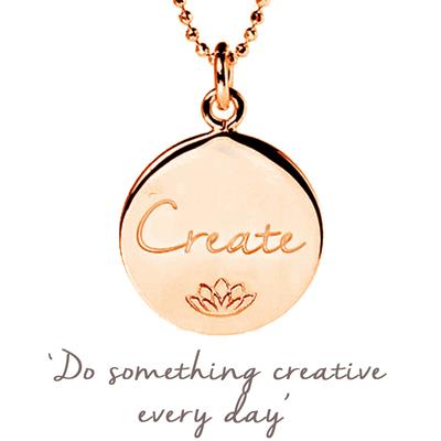 Buy Mantra Emily Quinton Create Disc Necklace in Rose Gold