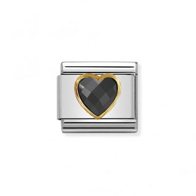 Buy Nomination Faceted Black CZ Heart