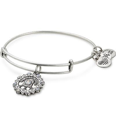 Buy Alex and Ani Maid of Honour Swarovski Bangle in Rafaelian Silver